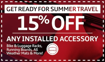 15% Off Any Installed Accessory