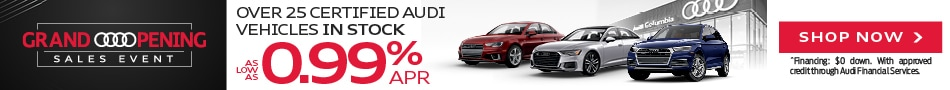 Over 25 Certified Audi Vehicles In Stock