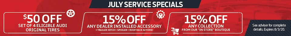 July Service Specials (HP and SRP)