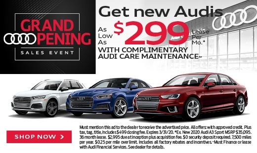 Get New Audis As Low As $299/Mo