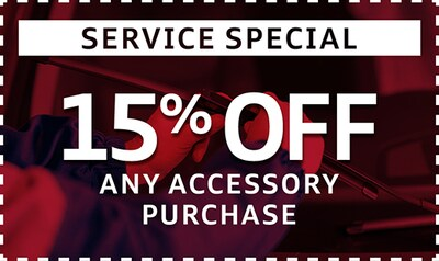 15% Off Any Accessory Purchase