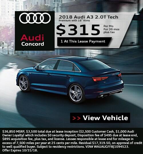 New Audi Specials Audi Concord - Audi lease specials