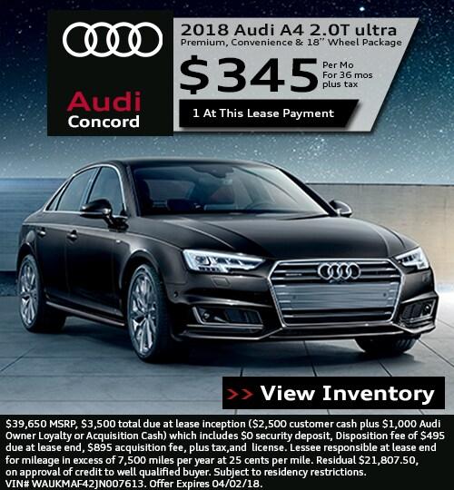 Audi Concord Lease Specials In
