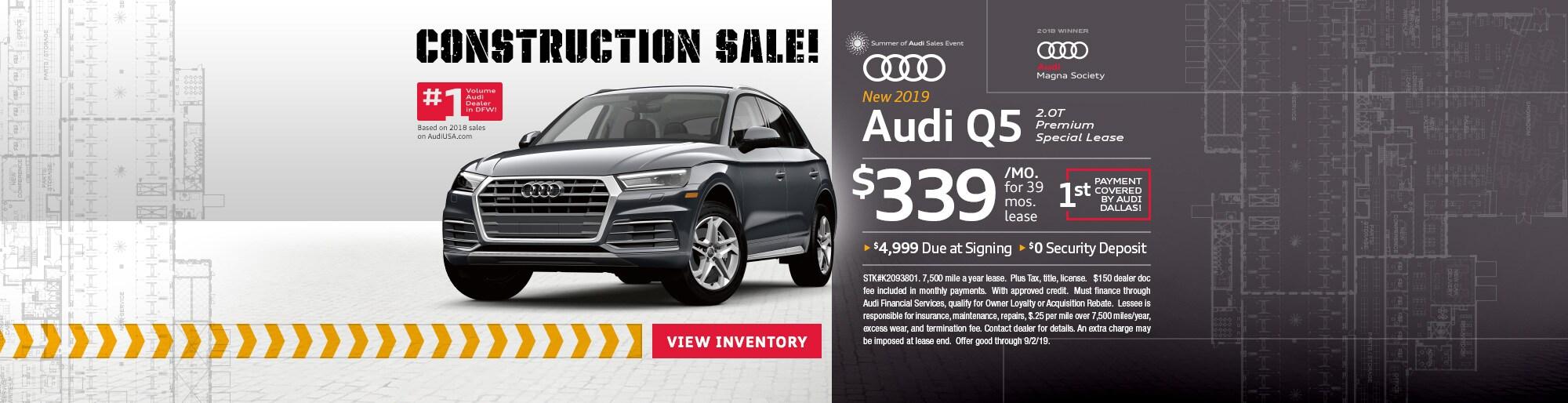 Audi Q5 Lease >> Audi Q5 For Sale Lease Dallas Tx Audi Dallas