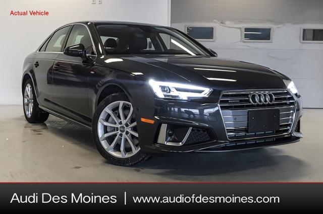 New 2019 Audi A4 2.0T Premium Plus Sedan Des Moines