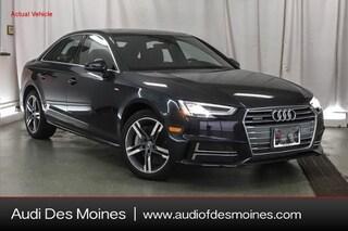 New 2018 Audi A4 2.0T Premium Plus Sedan Des Moines