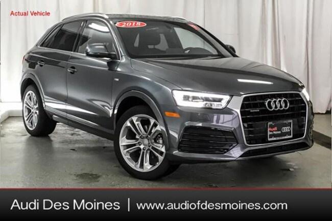 Certified Pre-Owned 2018 Audi Q3 2.0T Premium Plus SUV Johnston, IA