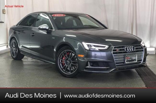 Used 2018 Audi S4 3.0T Prestige Sedan Johnston, IA