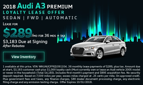 Audi Specials And Lease Offers Los Angeles Audi Downtown LA - Audi offers