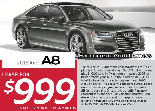 New Audi A Specials And Offers Los Angeles Audi Downtown LA - Current audi offers