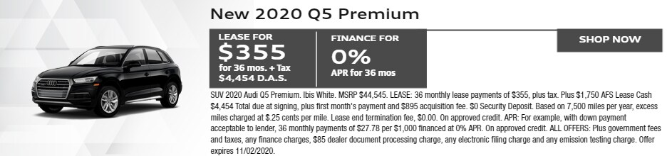 2020 Q5 PREMIUM LEASE $355