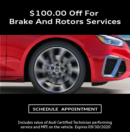 $100 off for Brake and Rotors service