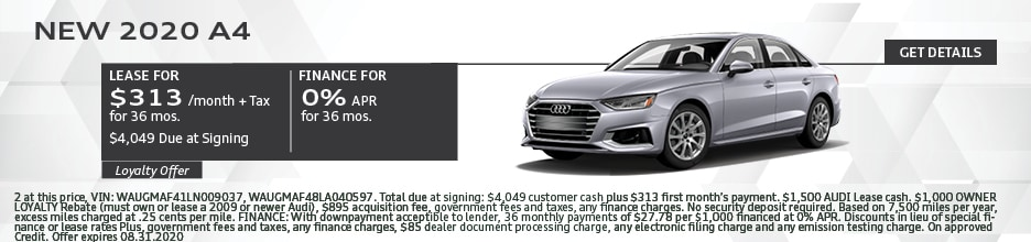 2020 A4 LEASE 313/36 MONTHS
