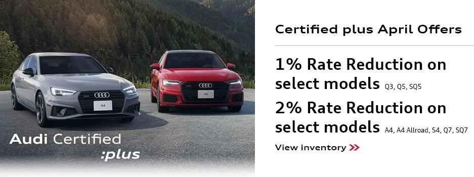 Audi Certified Plus April Offers
