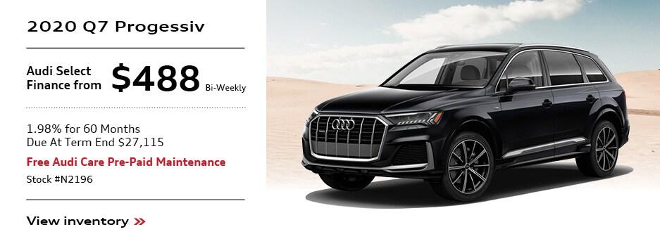 2020 Audi Q7 Offer