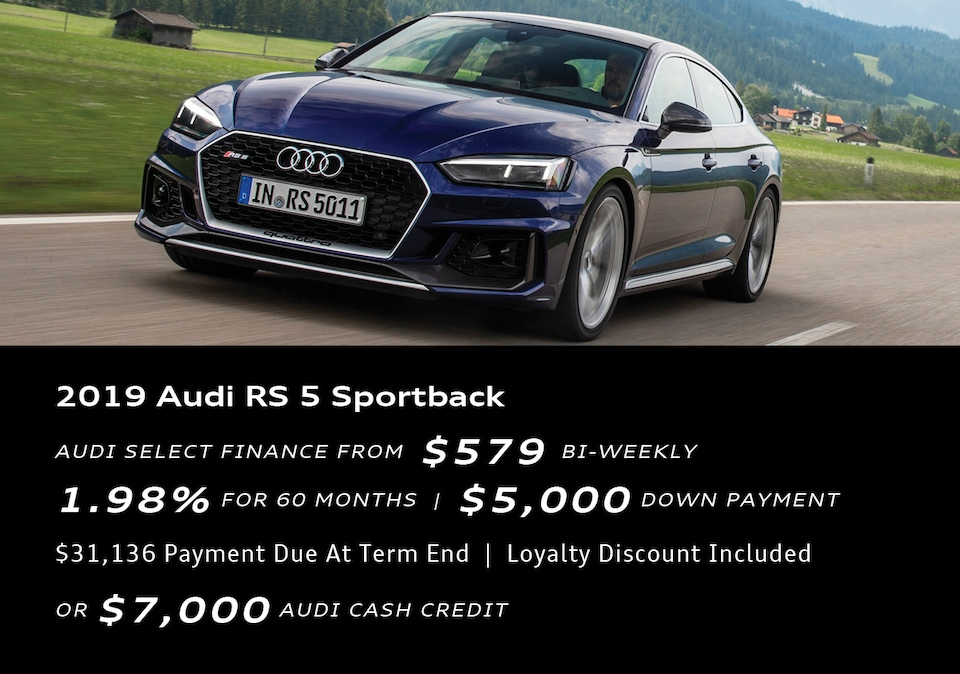 2019 Audi RS 5 January Special