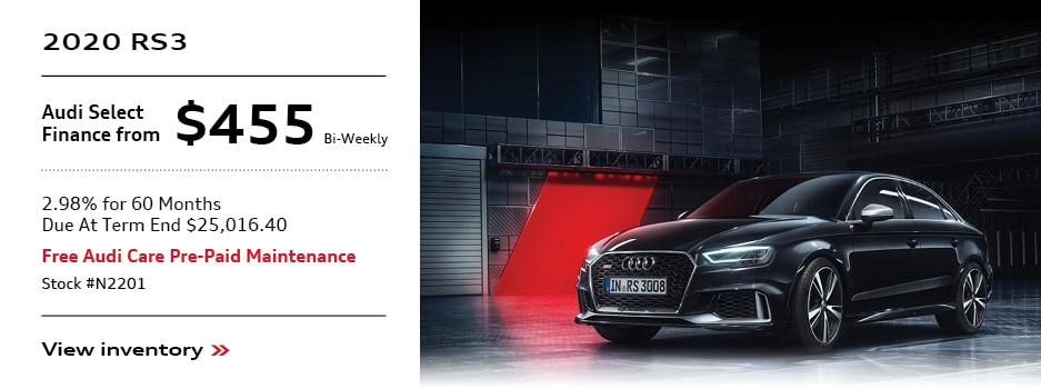 2020 Audi RS3 Offer