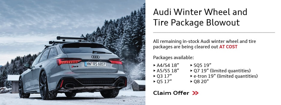 Audi Winter Wheel and Tire Package Blowout