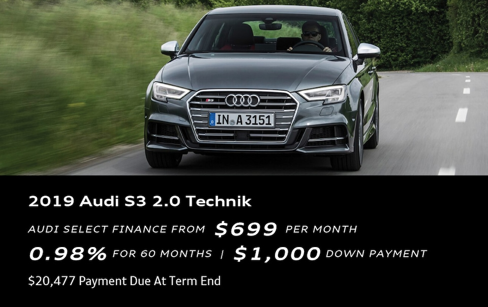 Deal Of The Week! 2019 Audi S3