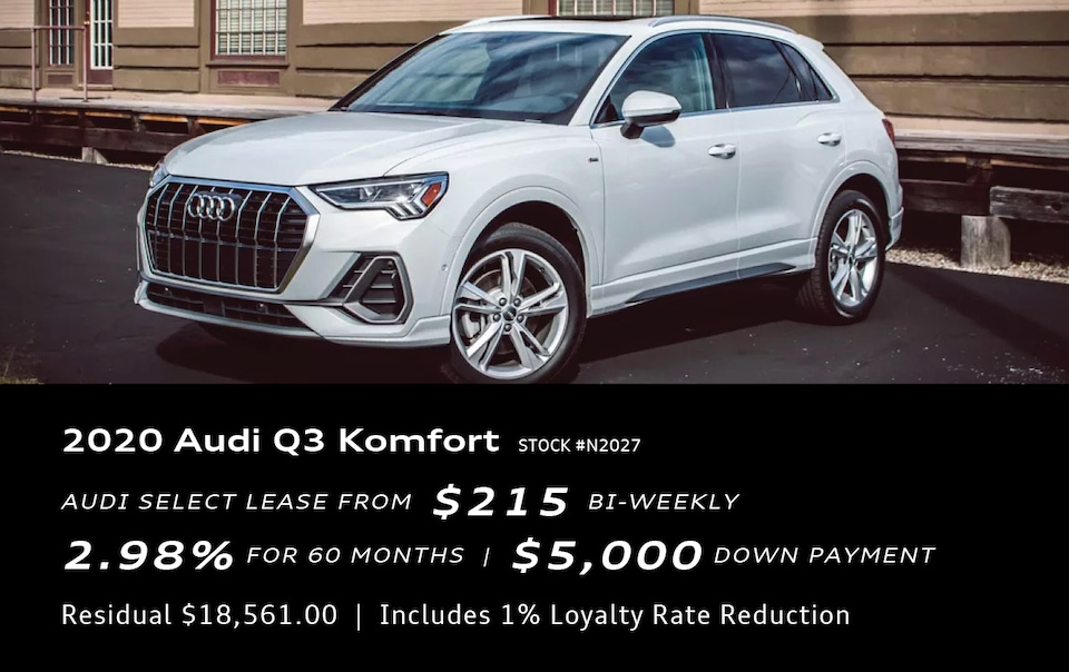 New Year Special Offer! 2020 Audi Q3