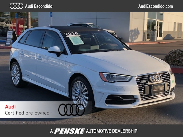 Certified Pre-Owned 2016 Audi A3 e-tron 1.4T Premium Sportback  for sale in Escondido, CA