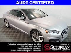Certified Pre-Owned 2018 Audi A5 2.0T Premium Coupe HP4499 Farmington Hills, MI