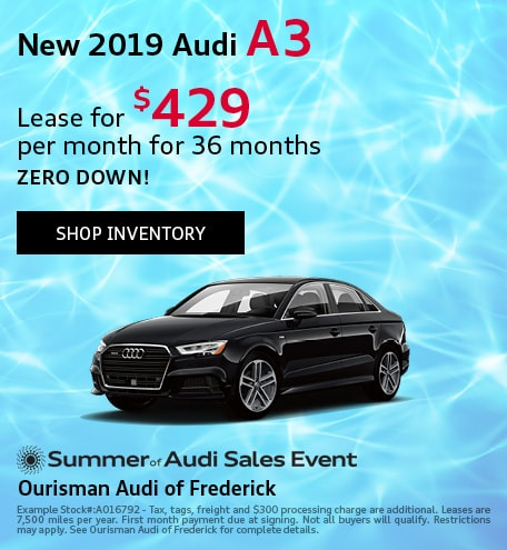 August | New 2019 Audi A3
