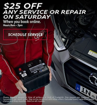 $25 off Any Service or Repair on Saturday