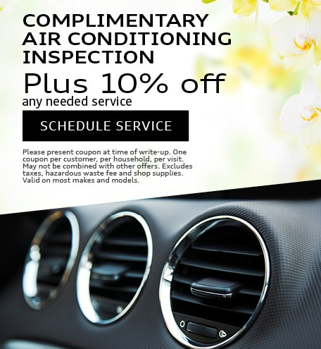 COMPLIMENTARY AIR CONDITIONING INSPECTION