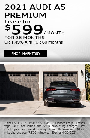 2021 Audi A5 Premium - Lease for $599/month