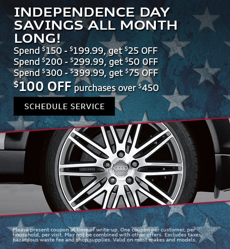 July | Independence Day Savings All Month Long
