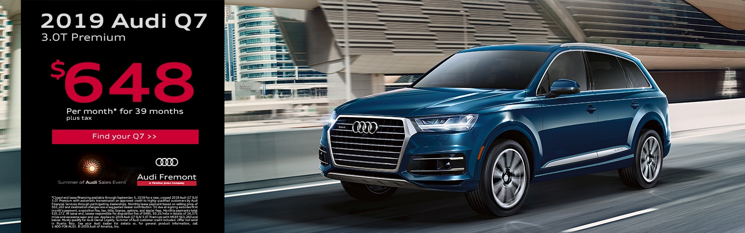 New Audi Q7 For Sale in Fremont | Near Hayward