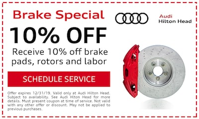 Brake Special Receive 10% off Brake Pads, Rotors, and Labor