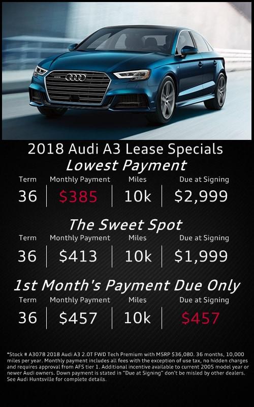 Audi Lease Specials Financing Offers Audi Huntsville AL - Audi lease specials