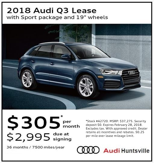 Audi Lease Specials Financing Offers Audi Huntsville AL - Audi lease promotions