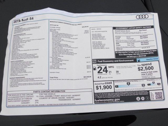 2019 Audi S4 3 0T Prestige For Sale   Cockeysville MD