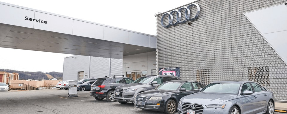 Exterior of Audi Hunt Valley Service Center