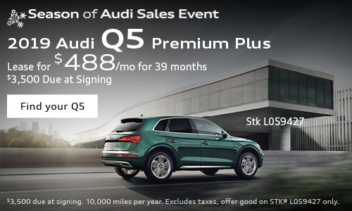 2019 Audi Q5  $488/mo. Lease