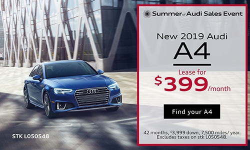 July 2019 Audi A4 Lease Offer