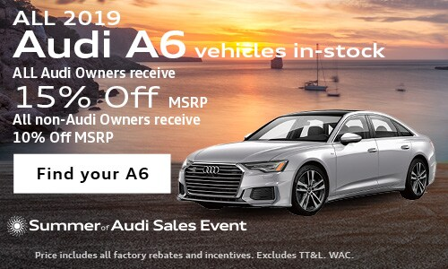 July 2019 A6 MSRP Discount Offer