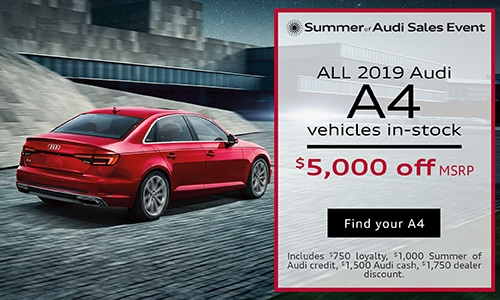 July 2019 Audi A4 Purchase Offer