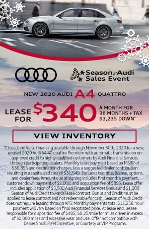 New 2020 Audi A4 quattro