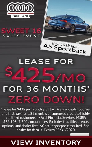 New 2019 Audi A5 Lease Specials at Audi Lakeland