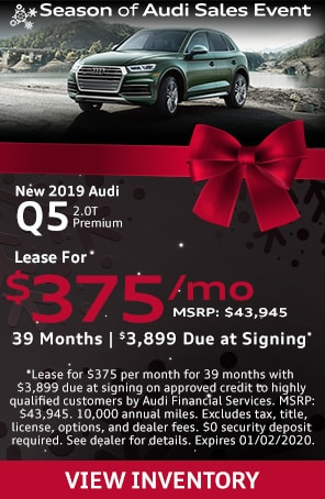 Lease a new 2019 Audi Q5 for $375 at Audi Lakeland