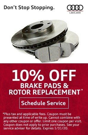 Brake Pad and Rotor Replacement Special in Lakeland FL