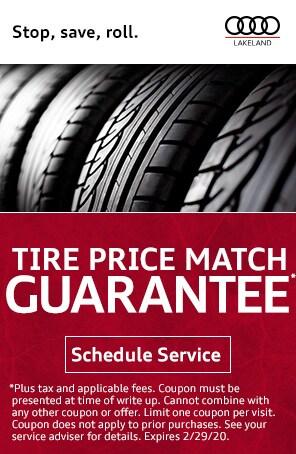 Tire Price Match Guarantee at Audi Lakeland