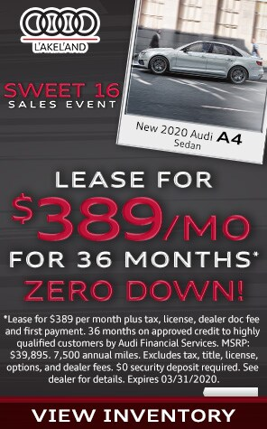 New 2020 Audi A4  Lease Specials at Audi Lakeland