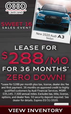 New 2020 Audi A3 Lease Specials at Audi Lakeland