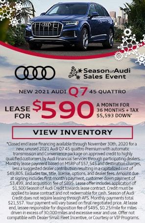New 2021 Audi Q7 45 quattro