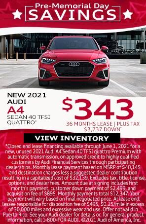 New 2021 Audi A4 Sedan 40 TFSI Quattro